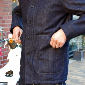 3 LAYER DENIM COVERALL JACKET