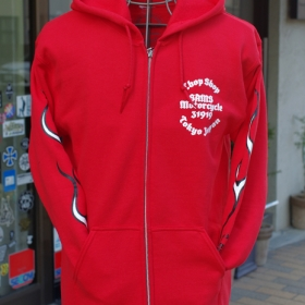 NEW COLOR FLAMES ZIP HOODIE