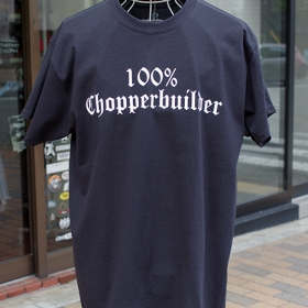 100% CHOPPER BUILDER FRONT PRINT TEE