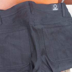 TRIPLE KNEE BLACK DENIM PANTS